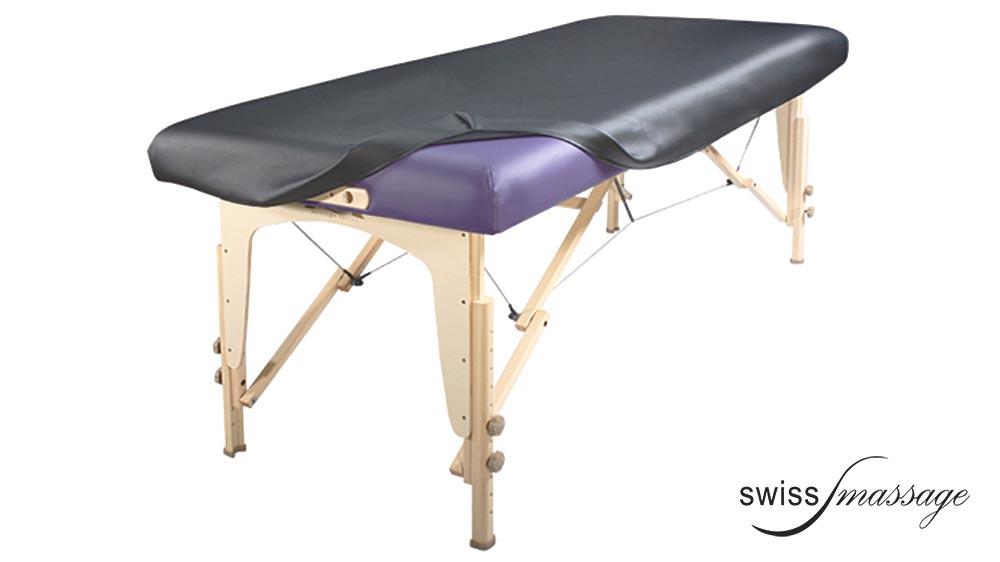 Housse en Vinyle anthracite recouvrement table de massage