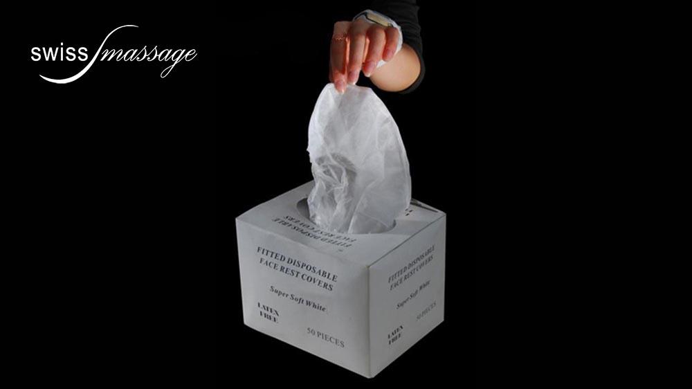 Charlottes de protection jetables coussin facial