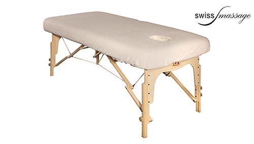 Drap housse flanelle table de massage avec trou facial