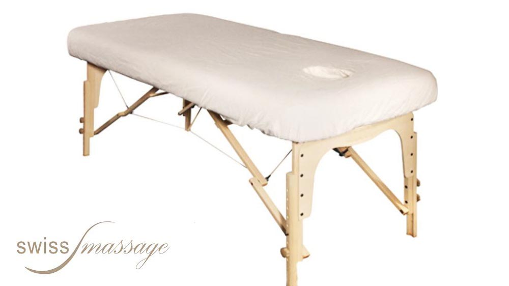 Drap housse coton éponge table de massage