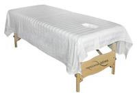 Drap table massage trou facial satin