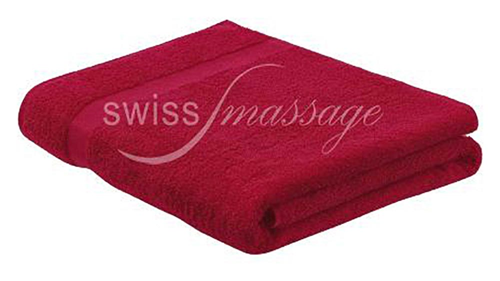 Linge de massage 2.2m/1m bordeaux
