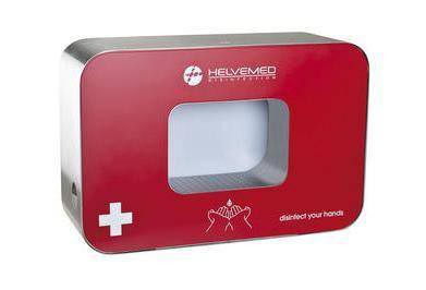 desinfecteur automatique mains nebucid helvemed rouge