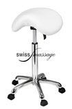 mini Tabouret pony blanc swissmassage