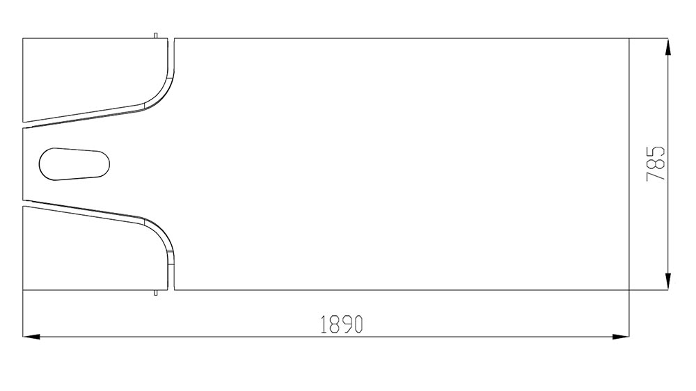 Table de SPA modèle Dubai dimensions dessus