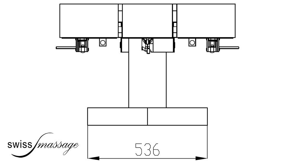 Table de SPA modèle Dubai dimensions pieds