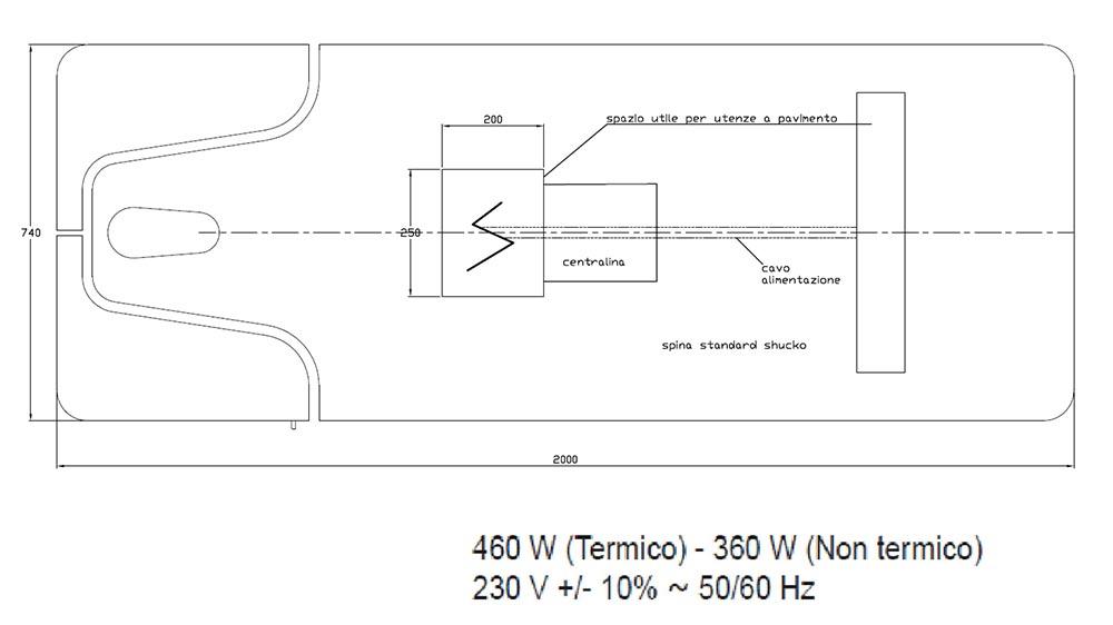 Table de SPA modèle Omnia dimensions dessus