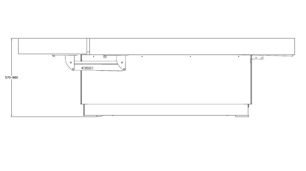 Table de SPA modèle Omnia dimensions profile
