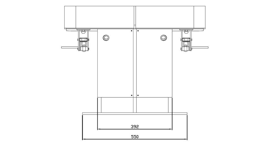 Table de SPA modèle Omnia dimensions pieds