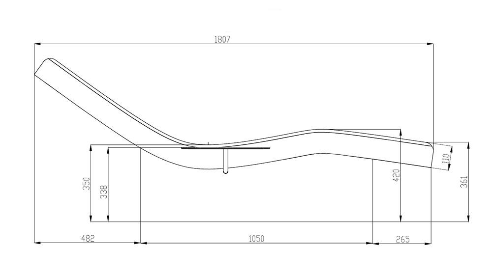 Relax de SPA modèle Relax-Lounge Dimensions profile