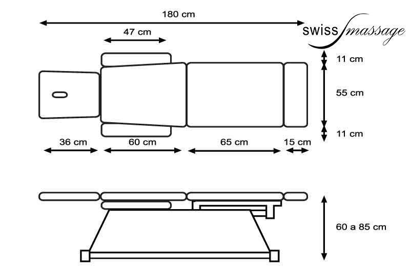 table de chiro dimensions