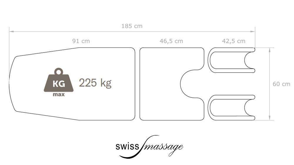 Dimensions table de gynécologue