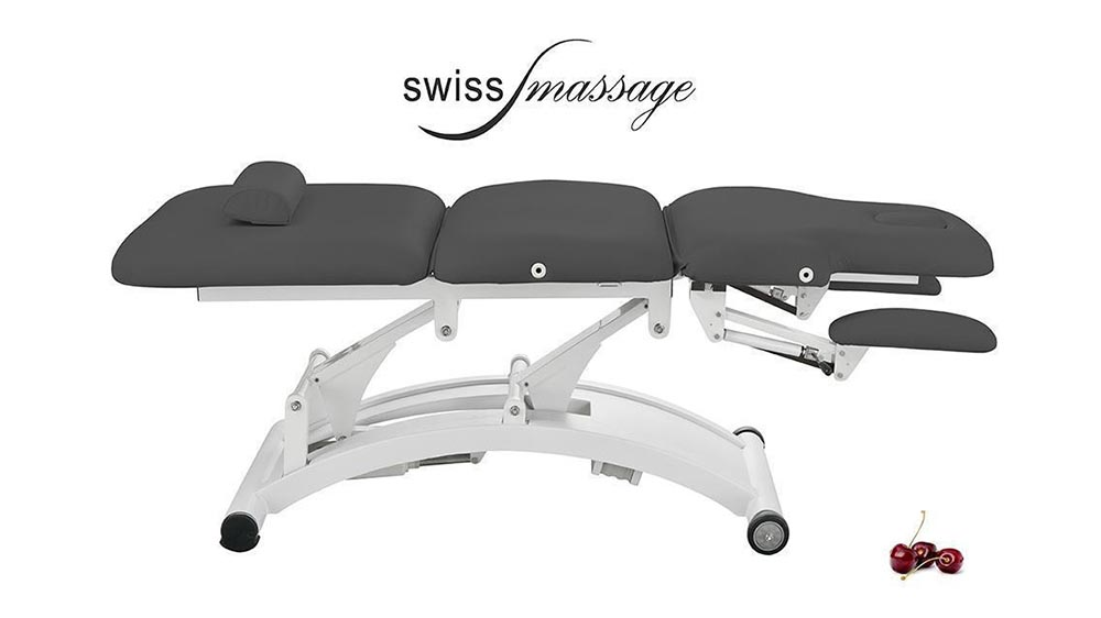 table de soins ems ellipse anthracite