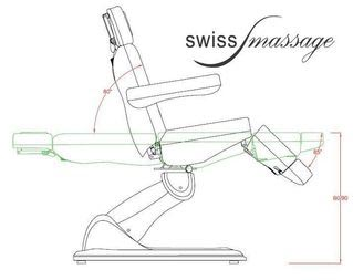 Table esthetique massage beauty swissmassage technique dimensions