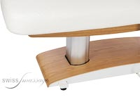 Table de massage excellence bois clair detail colonne